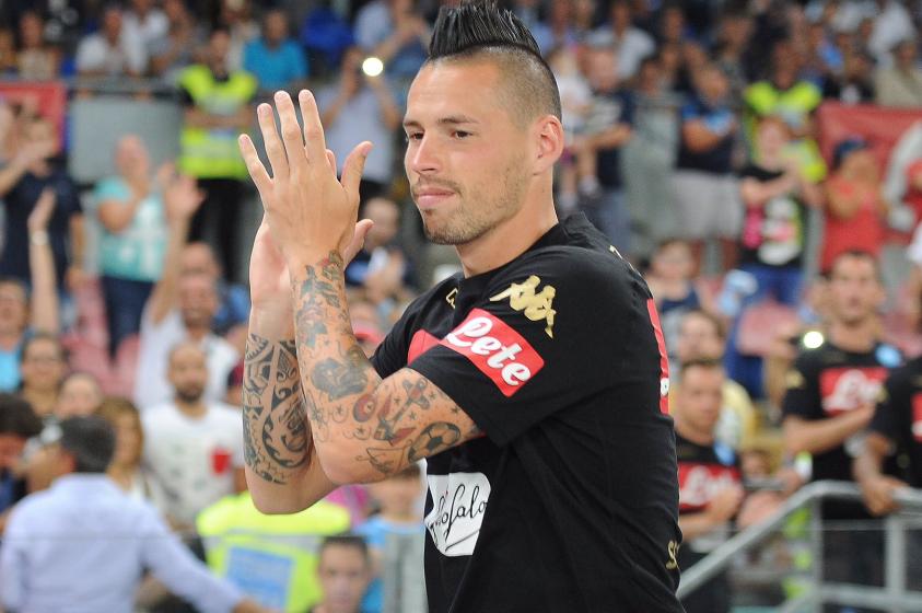 """Il messaggio di Hamsik ad Higuain: """"Che sfizio vincere contro la Juve sotto i tuoi occhi"""""""