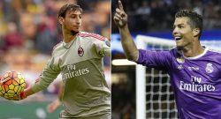 Dalla Spagna una vera bomba di mercato: scambio Ronaldo - Donnarumma. Ecco la situazione