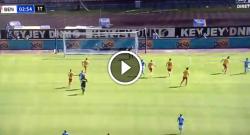 Gol di Allan, Belec respinge sui piedi dell'azzurro! Napoli 1 Benevento 0 [VIDEO]