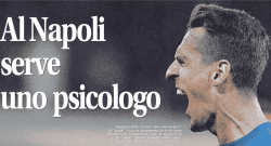 Al Napoli serve uno psicologo