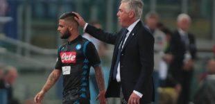 Udinese-Napoli, i convocati di Ancelotti: mancano Insigne, Luperto ed Ounas. Meret e Younes ancora fuori per infortunio