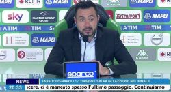 """Sassuolo, De Zerbi in conferenza: """"Avremmo meritato la vittoria stasera. Nel finale il Napoli ci ha costretto ad indietreggiare, ma non ha mai tirato in porta"""" [VIDEO]"""