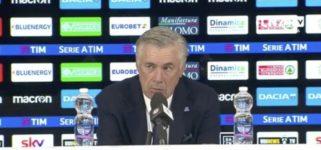 """Ancelotti in conferenza: """"Bisogna giocare per la maglia, squadra annebbiata e nervosa ma non ci sono spaccature. Speriamo martedì arrivi la scintilla. De Laurentiis? Sento fiducia totale"""""""